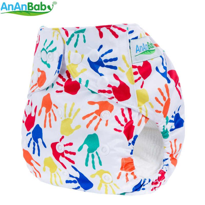 AnAnBaby 20 штук в много цветов на выбор, с героями мультфильмов, с принтом детские подгузники многоразовые тканевые карманные подгузники без вставок