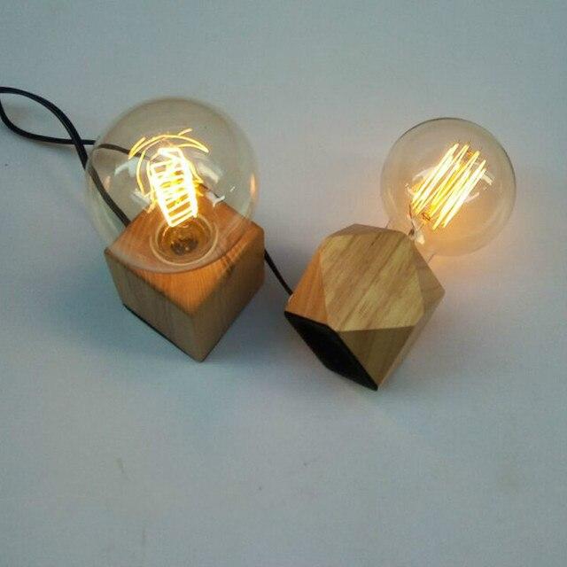 aliexpress koop vintage industrià le tafellamp vierkante
