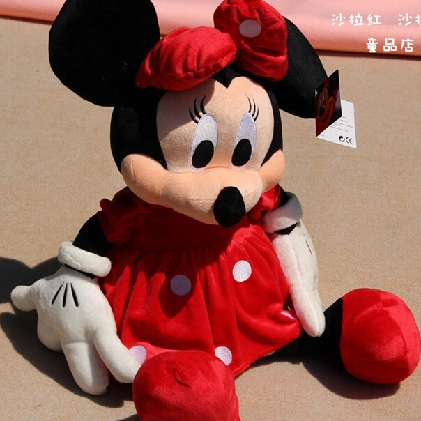 30CM 2pcs/lots Lovely Mickey and Minnie Mouse Stuffed Animal Plush toys for children Gift Lowest Price P008 1pcs 28cm minnie and mickey mouse low price super plush doll stuffed animals plush toys for children s gift