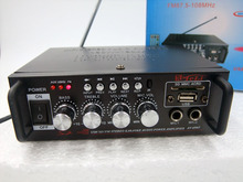 Wholesale Home Audio Video Equipment NEW 220V 12V dual WITH USB FM Radio with remote control small Amplifier