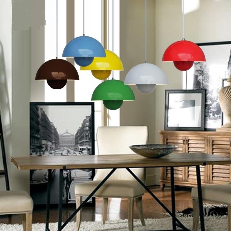 цена на 3pc colorful pendant lamp Panton flowerpot flower pot flower pot pendant lamps ufo dining lamp bar clothing store FG991