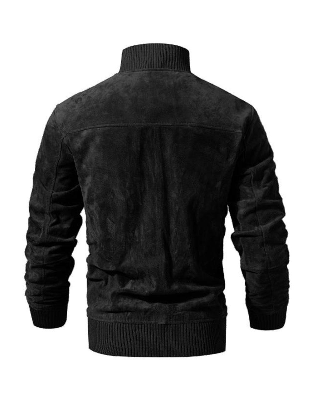 HTB12dDdlBjTBKNjSZFuq6z0HFXaT FLAVOR Men's Real Leather Jacket Men Pigskin Slim Fit Genuine Leather Coat With Rib Cuff Standing Collar