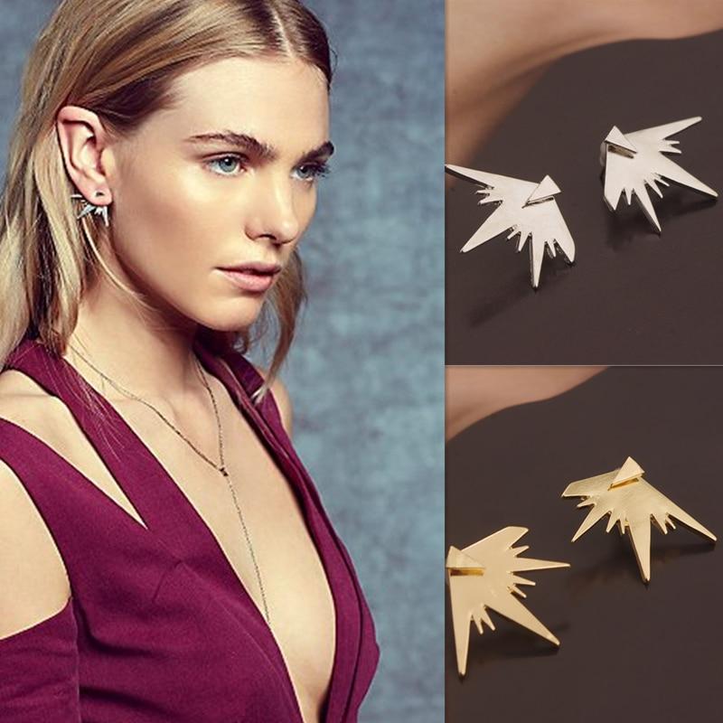 Volunge divat művészi személyiség háromszög tarrings fülbevalók ötvözött fülbevalók nőknek fém fülbevalók 2017 ékszer nagykereskedelem
