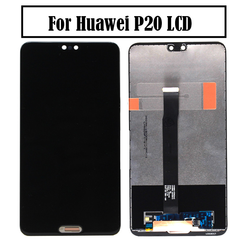For Huawei P20 LCD Display Touch Screen Digitizer Assembly Replacement for Huawei EML L09 EML L22