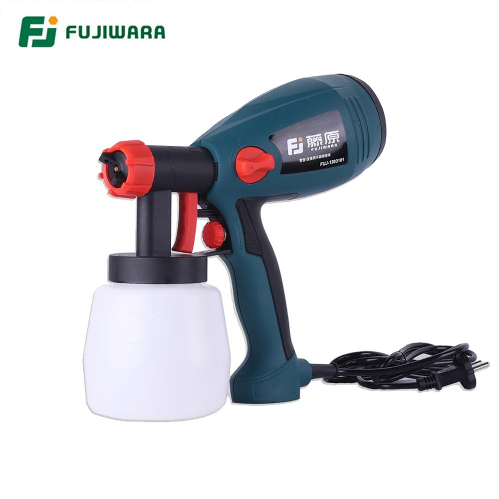 FUJIWARA 400W Electric Airless Spray Lacquer Gun Paint Spray Gun Paint Painting Tools High Atomization 1