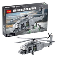 Decool 2114 562pcs aircraft model police warfare Black Hawk helicopter assembly blocks for lego brick US Army military Legoings