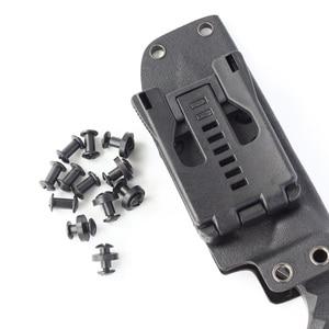 Image 5 - Conjunto de 100 parafusos de montagem de equipamento, arruelas de borracha pretas com ponta cruzada de chicago, arma kydex com suporte de equipamento de montagem
