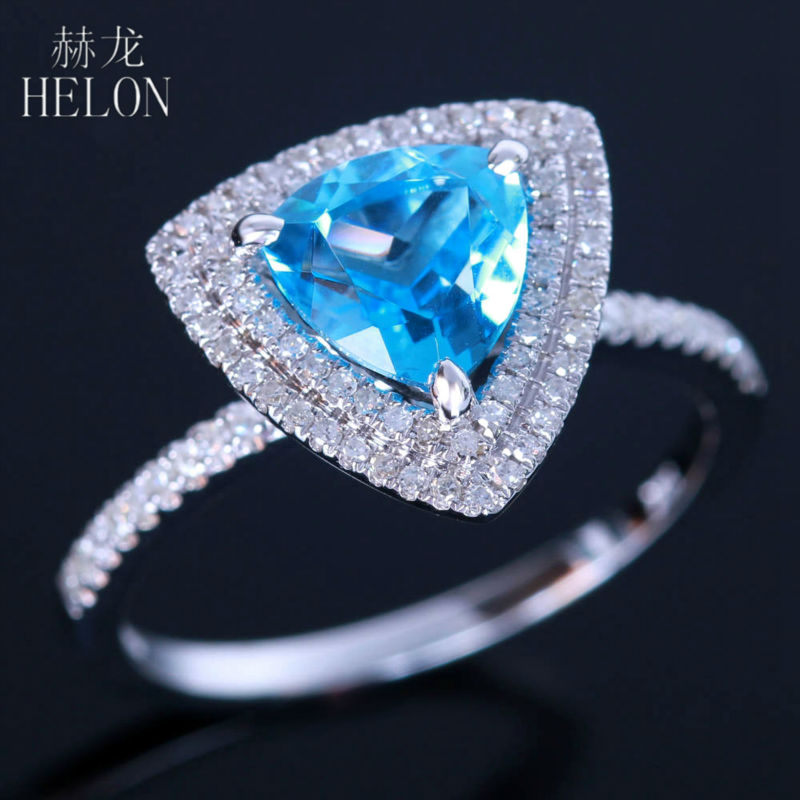 HELON 1.5ct Natural Bule Topaz Solid 10k White Gold 0.3ct Diamonds Engagement Ring Women Wedding Romantic Fine Jewelry GiftHELON 1.5ct Natural Bule Topaz Solid 10k White Gold 0.3ct Diamonds Engagement Ring Women Wedding Romantic Fine Jewelry Gift
