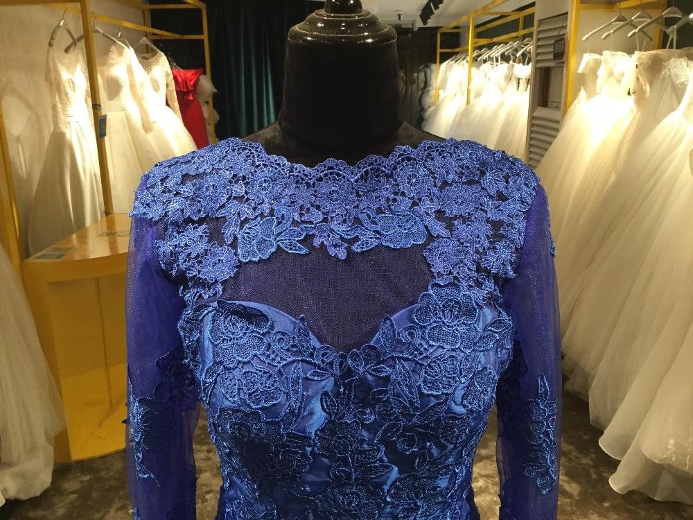 Elegante Illusion Lace avondjurken Robe De Soiree Lace Applique Floor - Jurken voor bijzondere gelegenheden - Foto 2