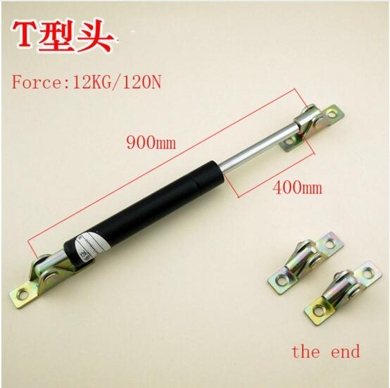 Free shipping 120N/12KG force 900mm central distance, 400 mm stroke, pneumatic Auto Gas Spring, Lift Prop Gas Spring Damper free shipping500mm central distance 200mm stroke 80 to 1000n force pneumatic auto gas spring lift prop gas spring damper