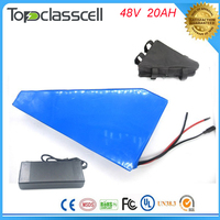 5pcs Triangle Type Electric Bike Battery 48v 20ah 1000w Electric Bicycle Lthium Battery For 48v Bafang