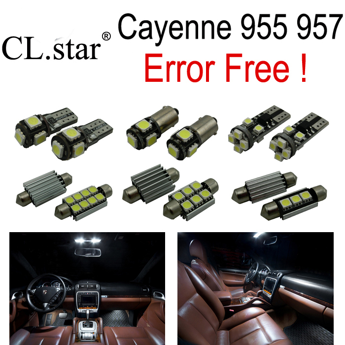 17pc XError free For Porsche cayenne 955 957 LED Interior Light Kit Package (2003-2010)