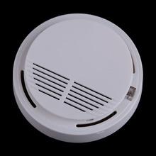 Wysoka wrażliwość fotoelektryczny bezprzewodowy detektor alarmu pożarowego dymu bezpieczeństwo w domu bezpieczeństwo ogród czujnik alarmowy dymu tanie tanio ACRDDK Smoke Detector Czujka dymu White 3 5x10 7cm (HXDia)