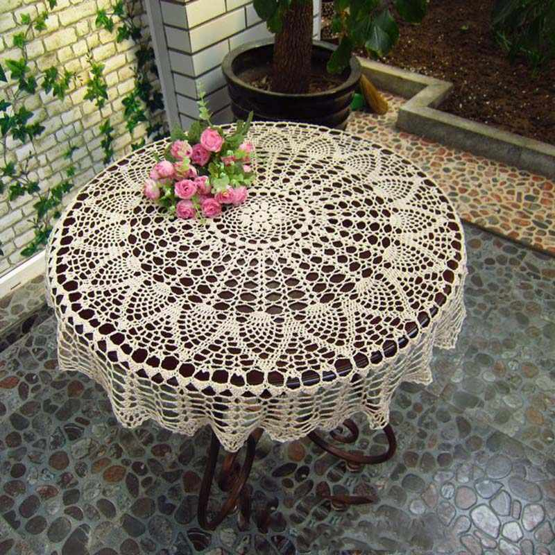 Detail Feedback Questions About Handmade Crochet Round Tablecloth