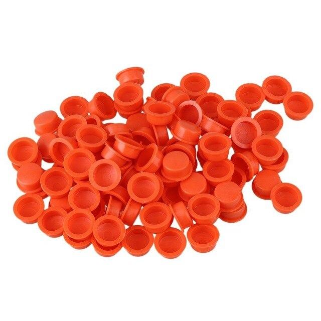 100Pcs Watermelon Red Plastic Polyethylene Fluid Japan Type 10cc Dispensing Syringe End Cap For Syringe Barrel