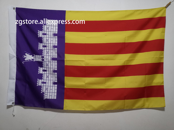 Flag of Majorca Balearic Islands Spain Flag Banner 3X5FT 150X90CM Polyester Banner brass metal holes Home Decor image
