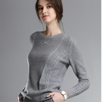 JECH Women 2017 Autumn Winter Fashion O Neck Sweaters Cashmere Femme Jumpers Long Sleeve Warm Soft Casual Women Pullover