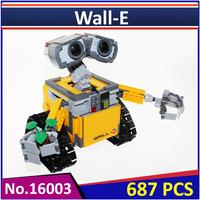 Lepin 16003 Compatible With IDEA WALL E 21303 Building Blocks Model Figure Educational Toys For Children