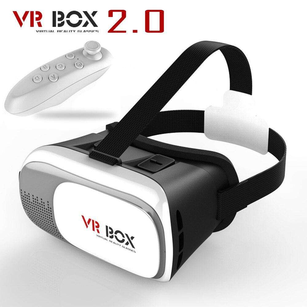 """Новинка 2017 года Google cardboard headmount VR коробка 2.0 VR виртуальной 3D Очки для 3.5 """"-6.0"""" смартфон + bluetooth пульт дистанционного управления"""