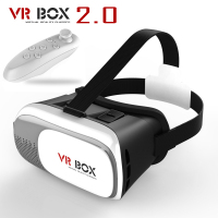 2017 New Google Cardboard HeadMount VR BOX 2 0 VR Virtual 3D Glasses For 3 5