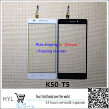 Original Black/white Touch Screen Glass touchscreen Digitizer For Lenovo K3 mote k50-T  free shipping