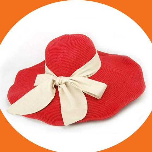 2012  Free Shipping Fashion Wide Brim Straw Beach Hat For Women