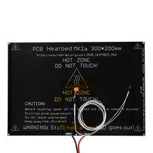 MK2A 300*200*3 мм RepRap Рампы 1.4 Алюминий печатной платы heatbed + LED резистор + кабель + термисторы Для 3D-принтеры части MK2B