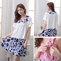 MamaLove fashion Maternity Clothes Summer Sleeveless Floral Maternity Dress Breast Feeding Clothes Dress for Pregnant Women