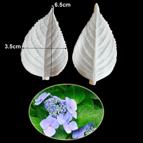 Hydrangea leaves Veiner Silicone Mold Gumpaste Flower Petal Cake Decorating Tool
