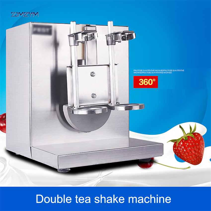 2017 NEW LJY120-2 Commercial Double head Bubble boba tea beverage Milk shaking machine Shaker 220V/110V 400r/min Food Processors edtid new high quality small commercial ice machine household ice machine tea milk shop