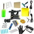 Complete WHIP Tattoo Machine Kit Power Supply Foot Pedal Clip Cord Grip Needles  TM-KIT-B