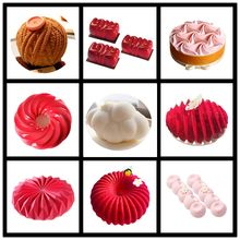 SHENHONG NEW Multiple Shapes Silicone Cake Decorating Mold For Baking Mould Dessert Mousse bakvormen Pastry Pan Bakewar Tools(China)