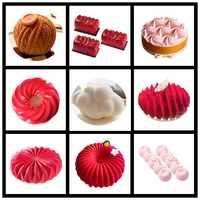 SHENHONG nouvelles formes multiples Silicone gâteau décoration moule pour cuisson moule Dessert Mousse bakvormen pâtisserie Pan Bakewar outils