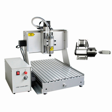 4axis mini cnc engraving machine 3040 800W spindle wood router with acceptable material thickness 130mm free cutter er11 collet