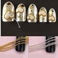 Chic 3 M 5 M liga Beads linha cadeia para acrílico Nail Art 3D falso dicas DIY decoração Nail Art frete grátis