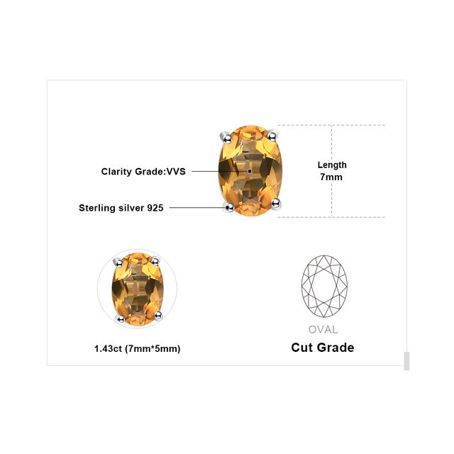 Citrine Stud Earrings