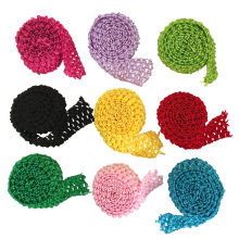 1.5 Inch Wide Crochet Headband Elastic Bands 1 Meter For Tutu Skirts Hair Bands Crochet Elastic Waistband By The Meter(China)