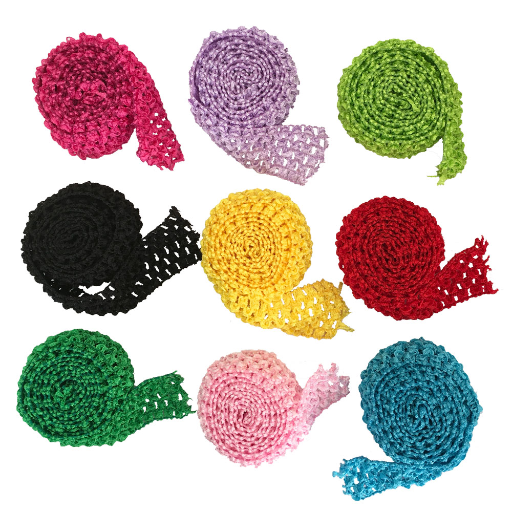 1.5 Inch Wide Crochet Headband Elastic Bands 1 Meter For Tutu Skirts Hair Bands Crochet Elastic Waistband By The Meter