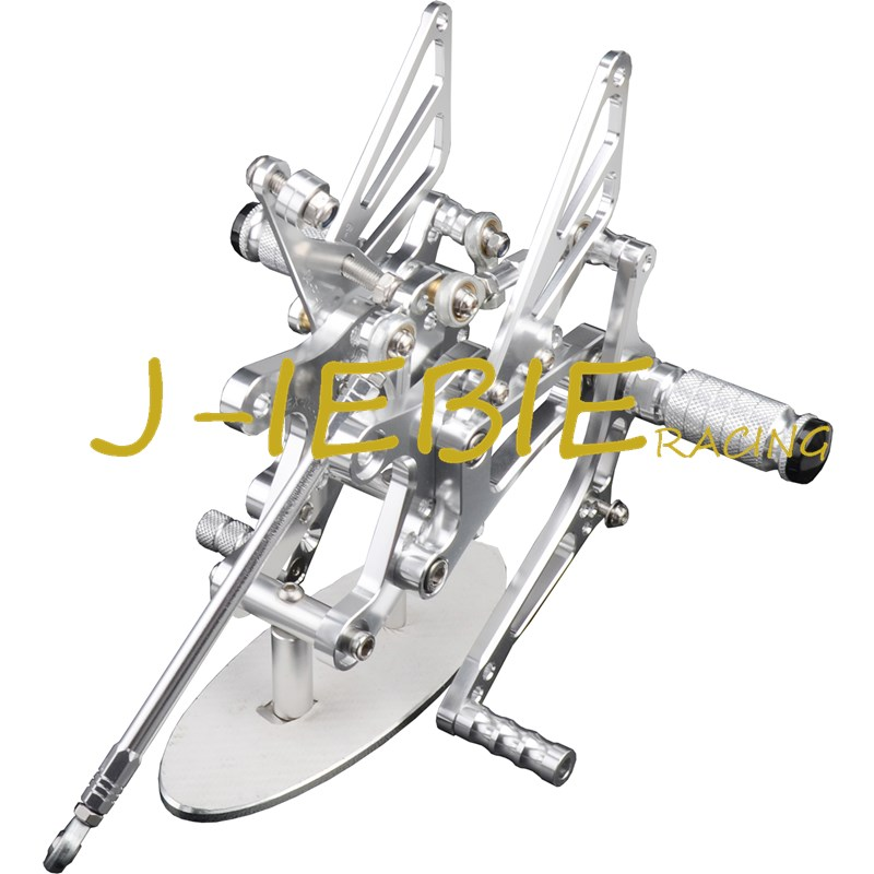 CNC Racing Rearset Adjustable Rear Sets Foot pegs Fit For Yamaha YZF R1 2004 2005 2006 SILVER mfs motor motorcycle part front rear brake discs rotor for yamaha yzf r6 2003 2004 2005 yzfr6 03 04 05 gold