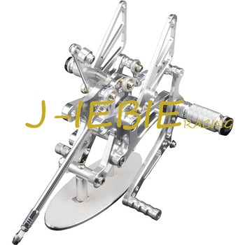 CNC Racing Rearset Adjustable Rear Sets Foot pegs Fit For Yamaha YZF R1 2004 2005 2006 SILVER