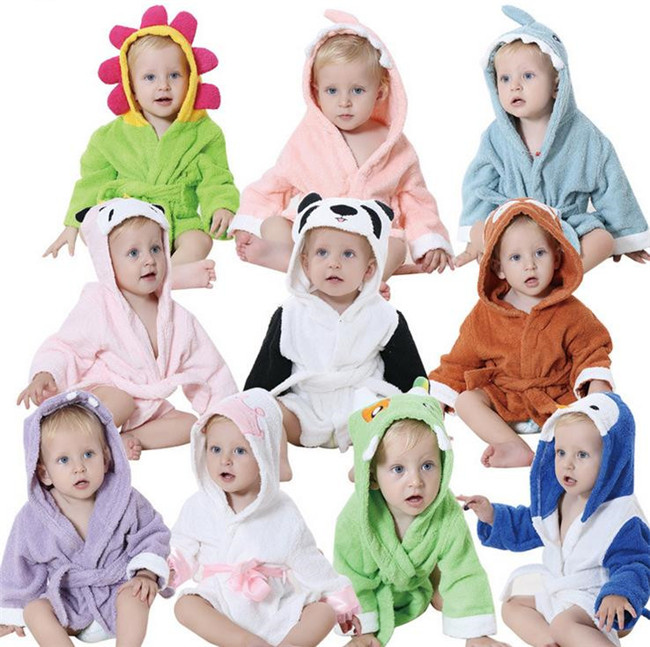 Soft Baby Towels Animal Shape Hooded Lovely Baby Bath Towel High Quality Baby Hooded Bathrobe For