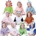 Toallas suaves del bebé forma animal capucha towel alta calidad con capucha para bebé albornoz de baño encantador del bebé para recién nacido bebé regalo de navidad