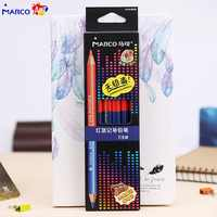 Marco Rafina 6 piezas lápices de Color Jumbo de doble cabeza lapiceros de colores lápices de colores de carpintero para juego de lápices marcador arte suministros