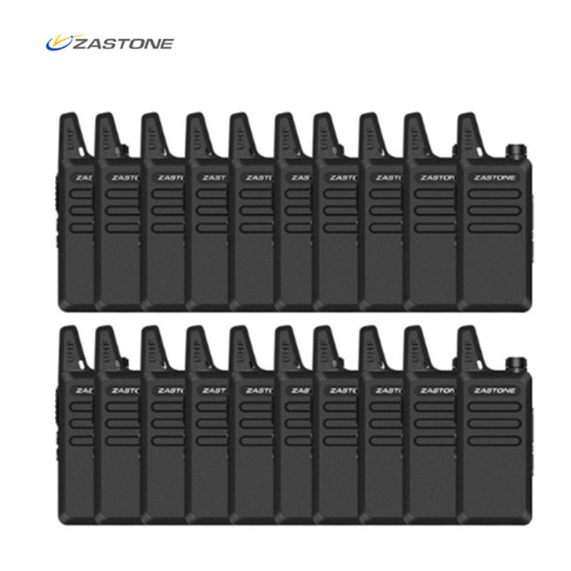 20pcs Zastone X6 Mini Walkie Talkie UHF 400 470mhz Mini Two Way Radio Amateur Radio