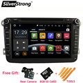 FREE SHIPPING Android 2Din Car DVD Player for VW Golf mk6 5 Polo Jetta Tiguan Passat B6 5 cc for skodaoctavia fabia DAB+ AD66S