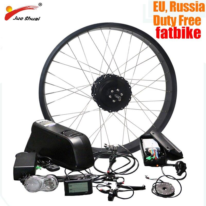 Livraison gratuite 48 V 500 W vélo électrique Kit 26*4.0 Moyeu Arrière Moteur Roue pour bicyclette à pneus larges Moto Neige 48 V 16ah Ebike bicicleta