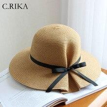 2019 pequeño fresco arco sombrero para el sol para las mujeres hermosas de verano  sombreros de f78a7c58d86