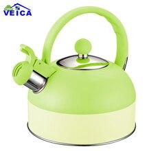 Свистящий чайник для газовой плиты Chaleira Bouilloire, двойной цвет, нержавеющая сталь, свистки, чайник, бутылка для воды