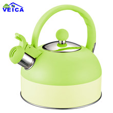 2019 New Whistling Kettle For Gas Stove Chaleira Bouilloire Double Color Stainless Steel Whistle Tea Kettle Water Bottle(China)