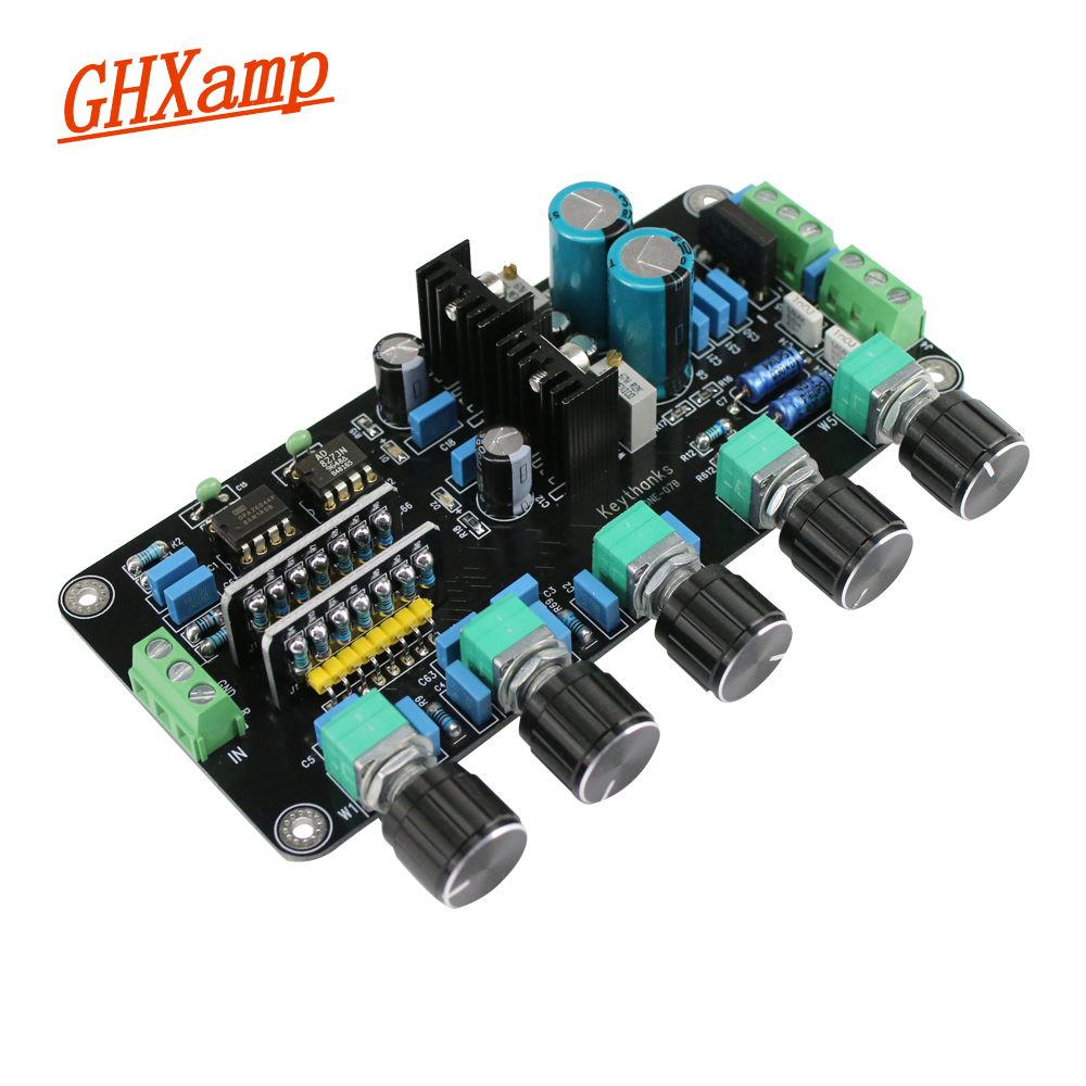 Updated 5532+LM1036 6channel Preamplifier Tone Adjust board AC dual 18V-15V